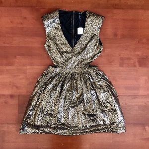 NEW! FOREVER 21 GOLD SEQUINS DRESS